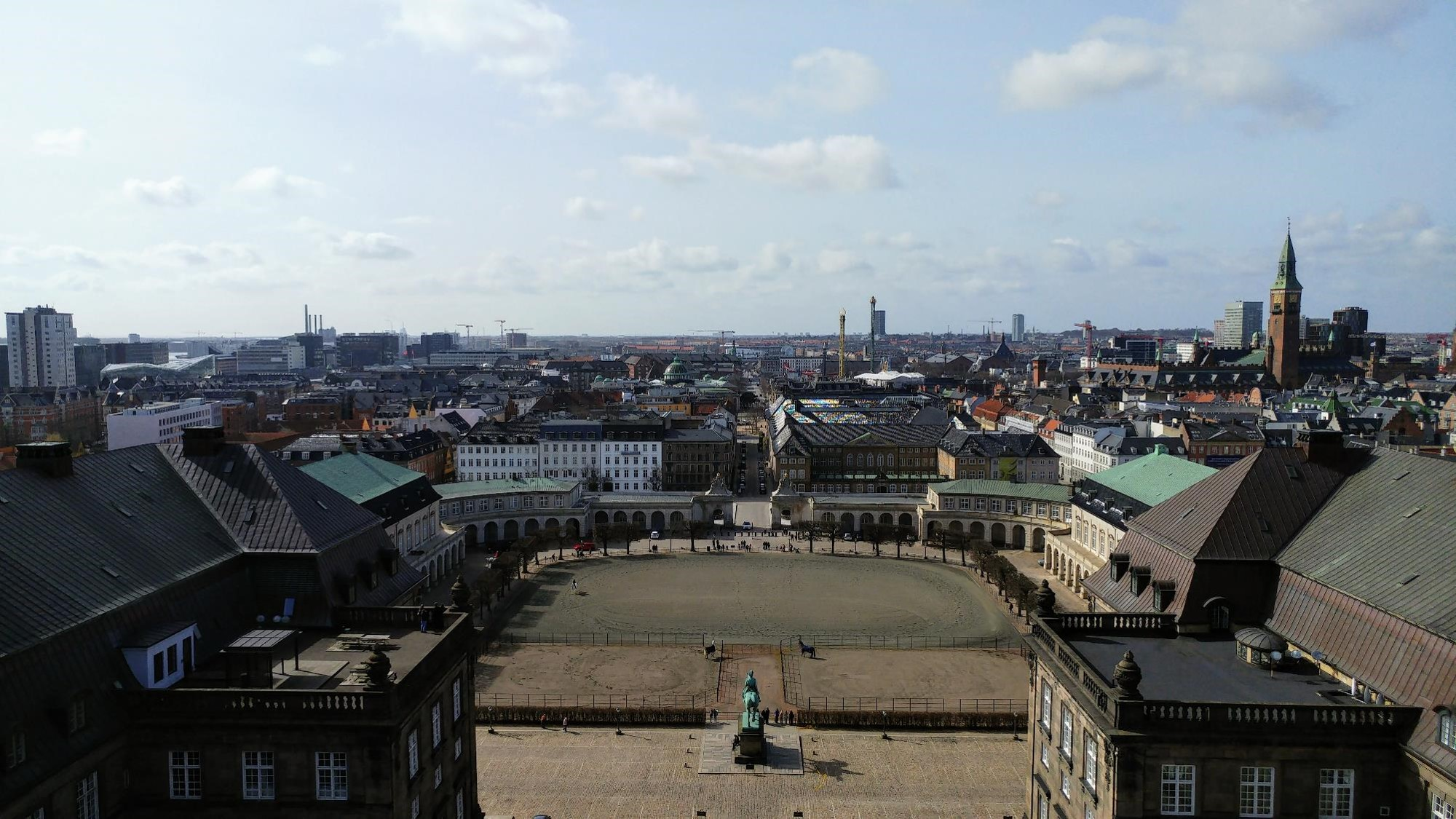 Copenhagen: View from tower of Christiansborg Palace