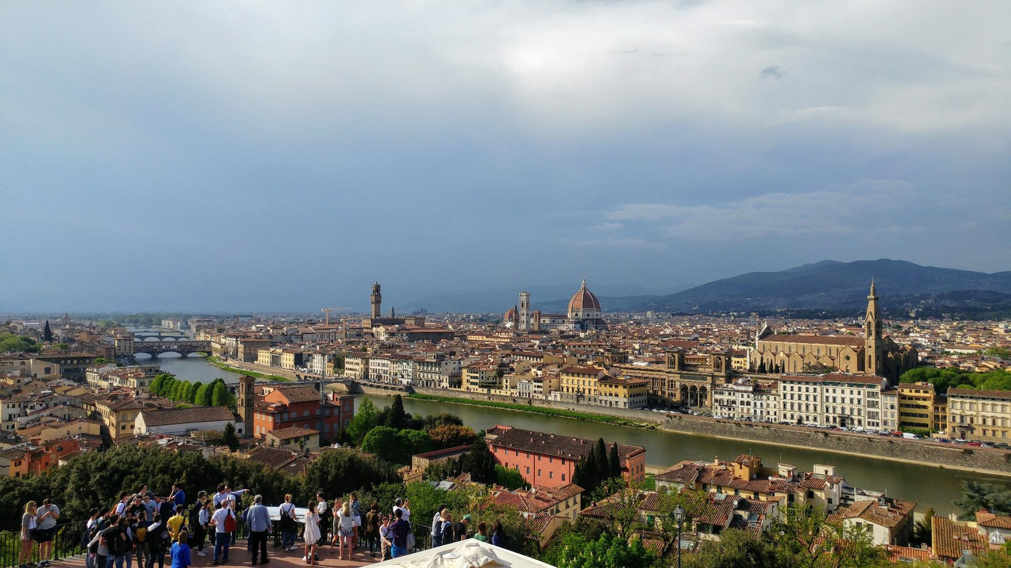 Florence: looking out from Piazzale Michelangelo