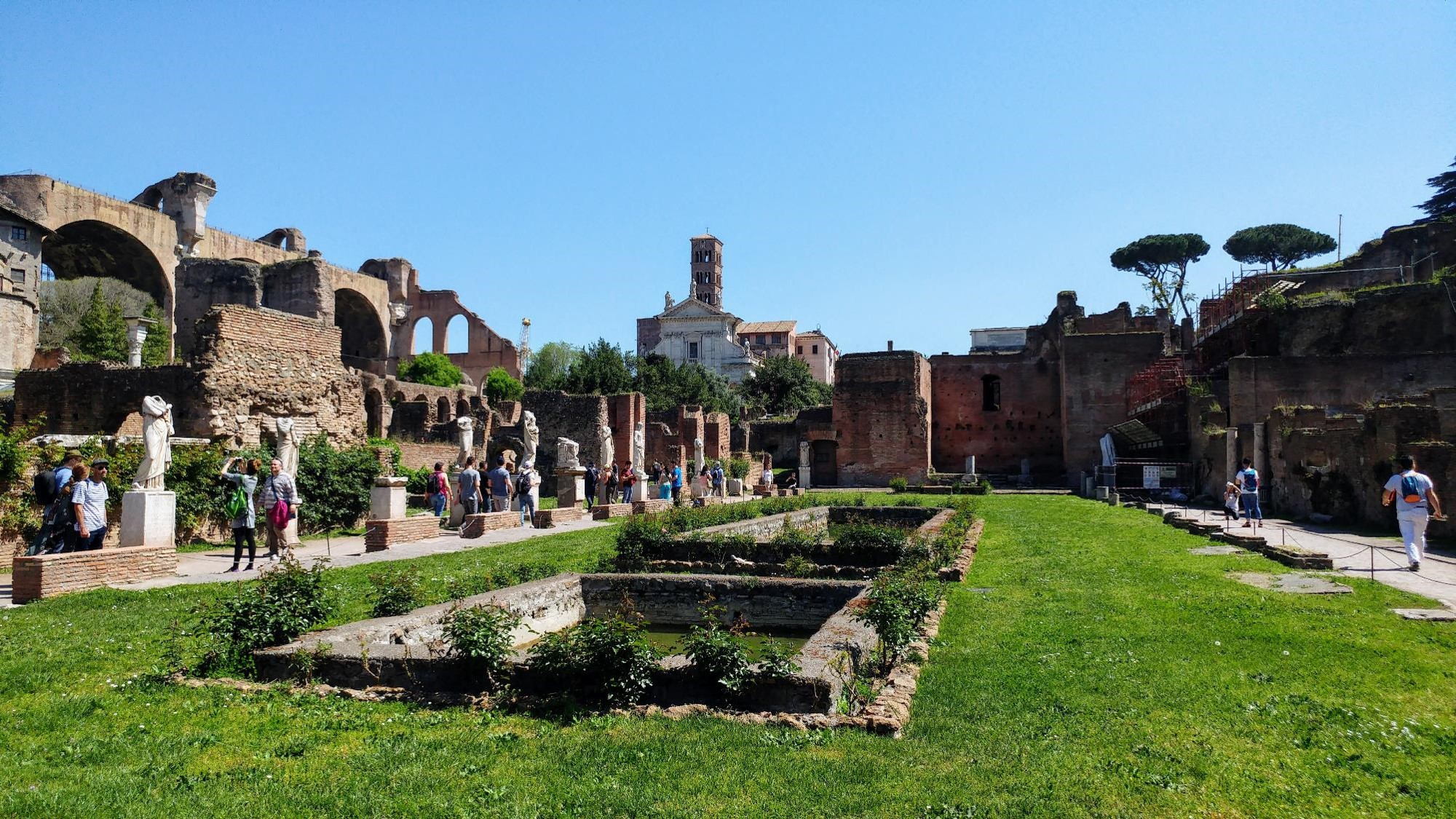 Pool of the Vestal Virgins in the Roman Forum, Rome