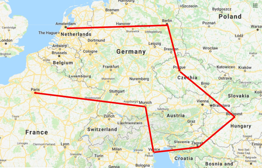 22 Day Interrail Route for First Trip to Europe – With Photos