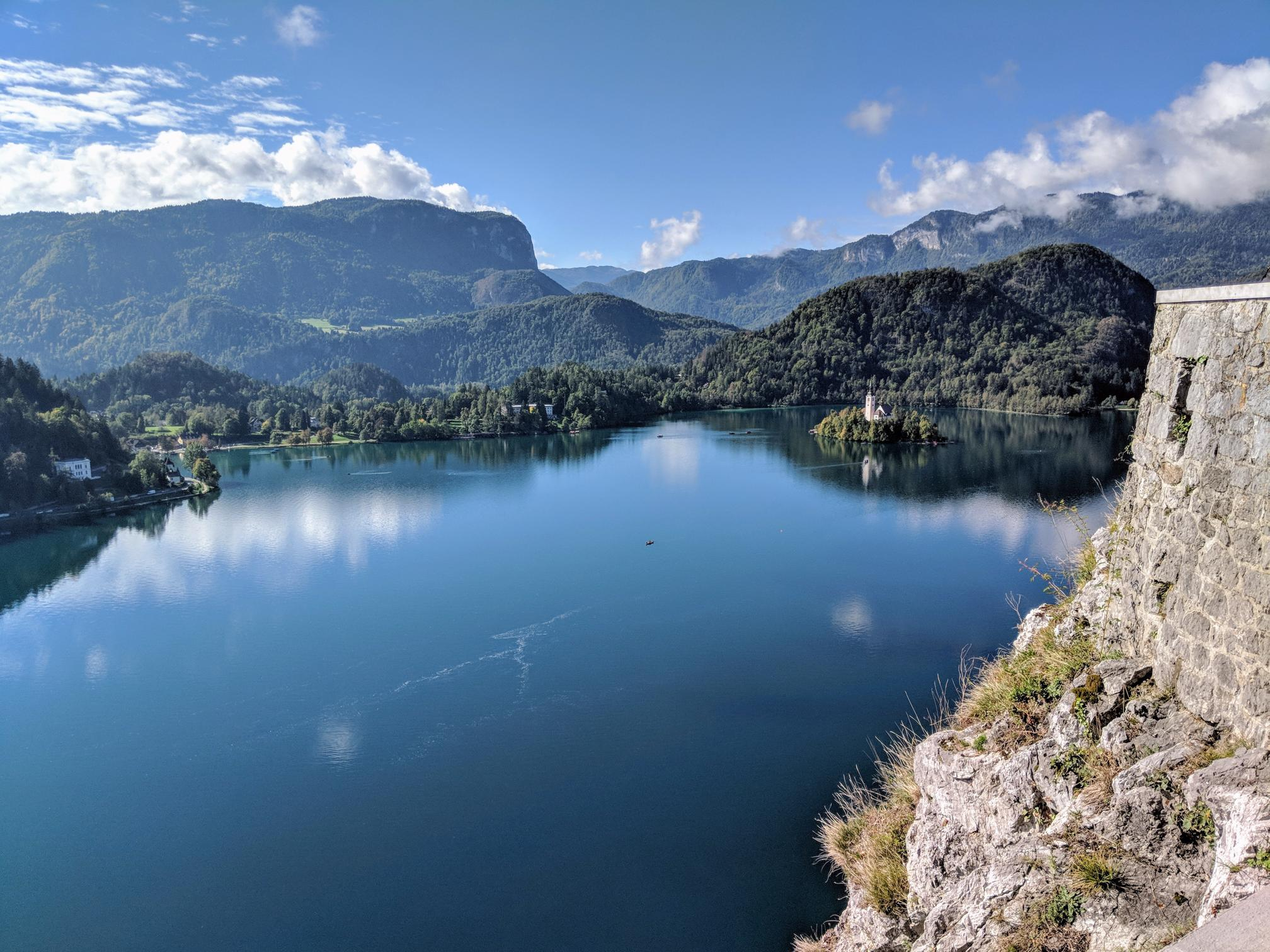 Visiting Lake Bled, the only island in Slovenia