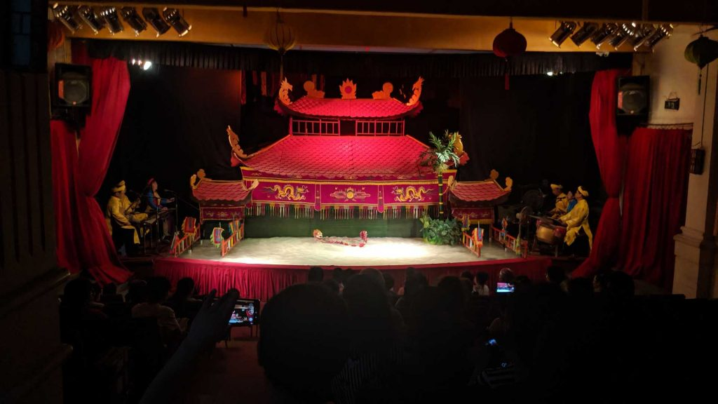 A water puppet show at the Golden Dragon Theatre in Ho Chi Minh