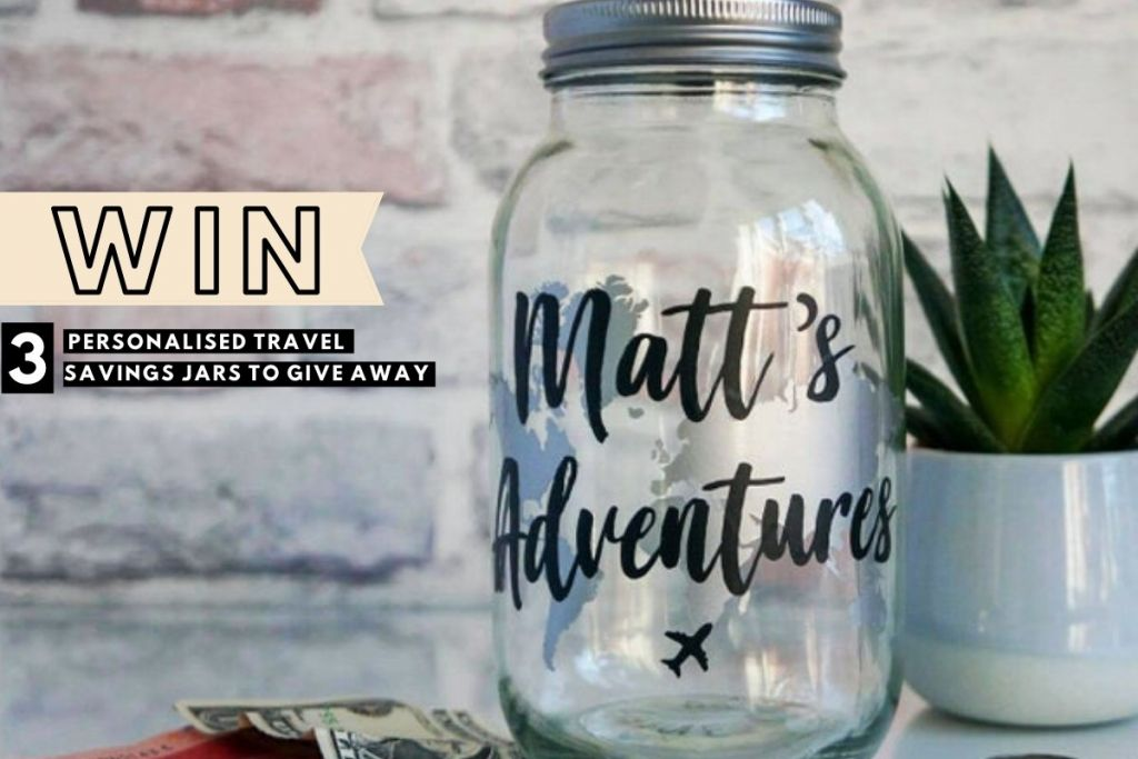Reader Giveaway: WIN 1 of 3 Personalised Travel Fund Savings Jars